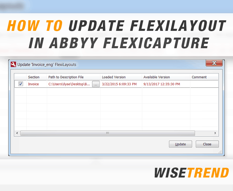 How to update FlexiLayout in ABBYY FlexiCapture document definition