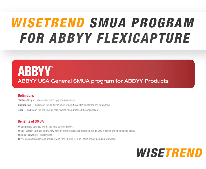 WiseTREND SMUA program for ABBYY FlexiCapture, Recognition Server