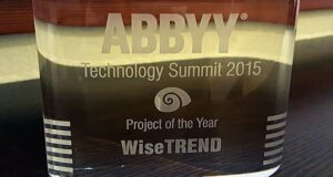 WiseTREND ABBYY Ilya Evdokimov Award Project of the Year FlexiCapture Recognition Server OCR