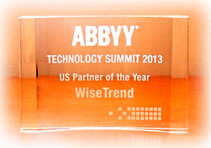 WiseTREND ABBYY Award for FlexiCapture Recognition Server Partner of the Year