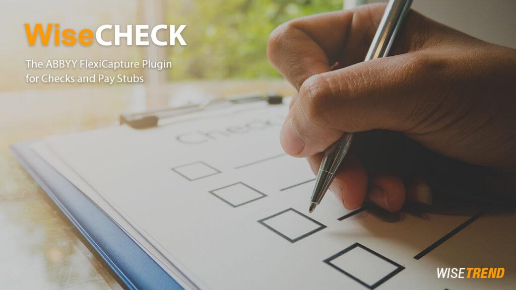 bank check processing software